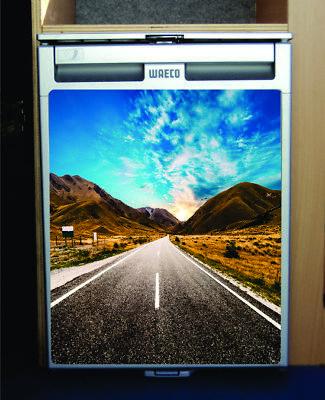 Waeco CR50 Vinyl Fridge Wrap Print - Road Trip Design for sale  Shipping to United States