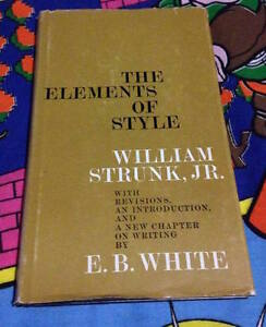 The Elements of style 1959 First printing Hardcover book