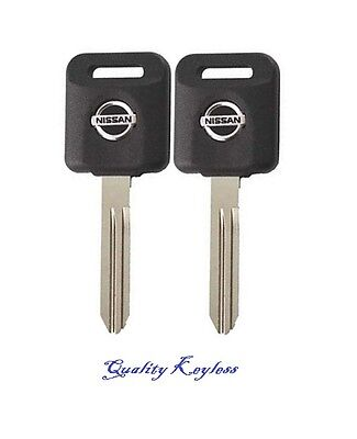 PAIR NEW N46 UNCUT IGNITION CHIPPED KEYS WITH TRANSPONDER CHIP 46
