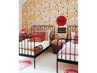 Ikea Minnen Metal Child Kids Guest Day Bed Extendable Black - 2 Available