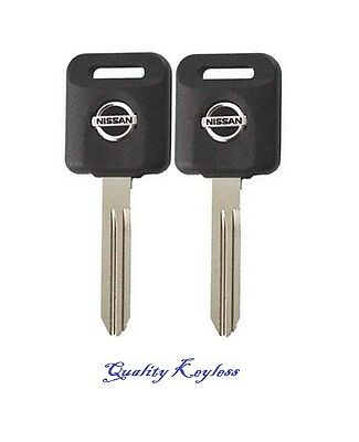 PAIR NEW N46 UNCUT IGNITION KEY Nissan Infiniti Compatible Chip Keys