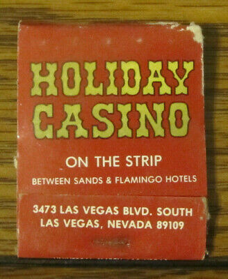 Vintage Las Vegas Nevada NV Holiday Inn Casino Strip Matchbook Matches