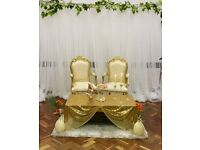 EVENT SERVICES AND PARTY EQUIPMENT FOR HIRE - Table covers, chair covers, backdrop, decor