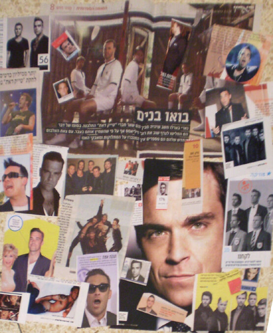 ROBBIE WILLIAMS Take That ISRAEL ISRAELI CUTTINGS CLIPPINGS