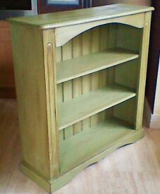 Book Shelves - painted distressed green in very good condition