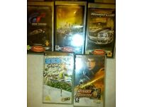 5 PSP games - NEED FOR SPEED,GRAN TURISMO,MIDNIGHT CLUB L.A.,SSX ONE TOUR,DYNASTY WARRIORS