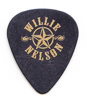 Willie Nelson Star Logo Black Guitar Pick - 2016