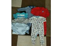 Boys 6-9 month. 3 onesies and 3 vests