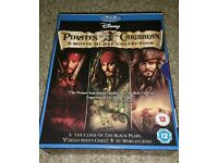 Pirates Of The Carabeian 1/2+3 Blueray