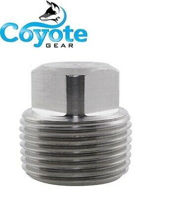 High Pressure 34 Npt Forged 316 Stainless Square Head Plugs 3000 Coyote Gear