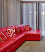 Red Leather Modular Sofa Willetton Canning Area Preview