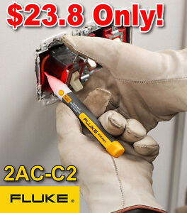 FLUKE-2AC-C2-VoltAlert-200-1000V-AC-Non-Contact-Voltage-Detector-Tester-Pen