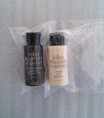 John Masters Organics Lavender Shampoo & Citrus Detangler Conditioner Mini Duo