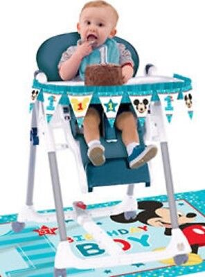 Mickey Mouse 1st Birthday Party High Chair Decorating Kit