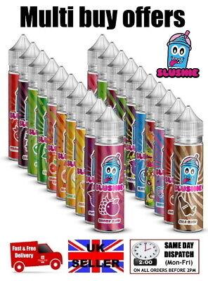 SLUSHIE E liquid 50ml 0mg 70VG short fill cheap e juice vape vaping e cig SLUSH