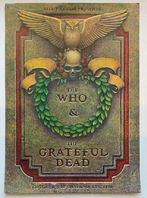 The Who & Grateful Dead Concert Poster Oakland 1976
