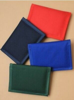 Red Tri-fold Wallet (Adults Childrens Plain Red Navy Green Blue Tri Fold Wallet Money Card Holder)