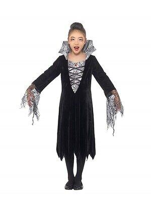 �m Spinnennetzmuster Karneval Halloween Hexe Spider Vampire (Halloween Spider Kostüm)