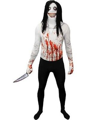 Morphcostumes - Jeff the Killer Morphsuit Costume (Adult + Child Sizes)](Costume Jeff The Killer)