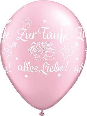 e alles Liebe Rosa 5 St. Taufe Deko NEU (Liebe Luftballons)