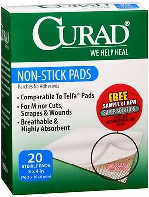 Curad Non-Stick Pads 3 Inches X 4 ...