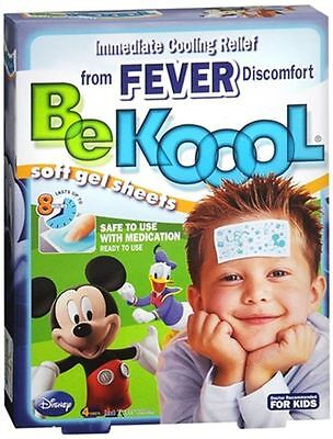 Be Koool Gel Sheets For Kids Fever 4 Each (Pack of 9) Be Koool Gel Sheets