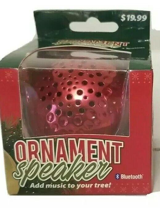 Red Christmas Ornament Speaker Bluetooth Solaray 4.2 Wireless Silver