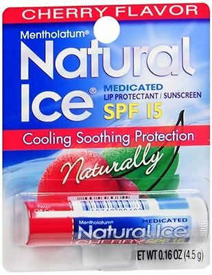 Mentholatum Natural Ice Lip Balm Cherry SPF 15 1 Each
