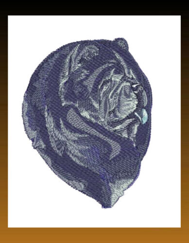 CHOW CHOW Dog Breed Bathroom SET OF 2 HAND TOWELS EMBROIDERED