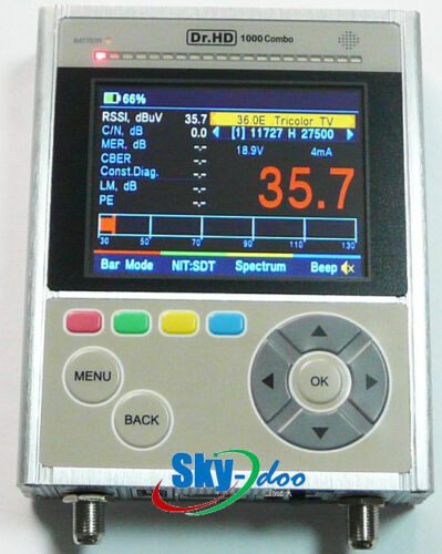 Dr.HD 1000 Combo S/S2/T/T2 DVB-C Vsat satfinder with Realtime Spectrum Analyzer