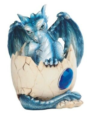 Birthstone Dragon Collectible September Baby Hatching Egg Blue Dragon Figurine