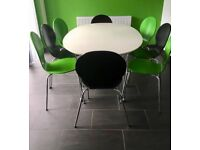 X4 Green Dining Chairs