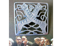 medieval pewter dogs brooch