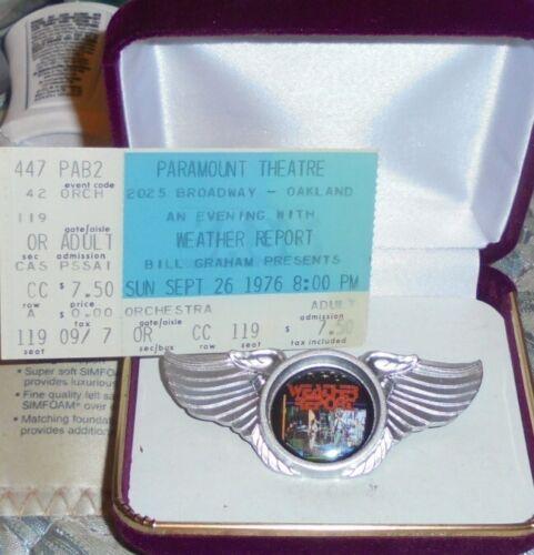 Weather Report Concert Ticket Badge Pin Jaco Black Birdland Youtube Palladium TV