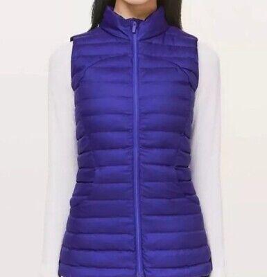 NWT Lululemon Pack It Down Again Vest Sz 6 lazurite LAZR Blue-purple