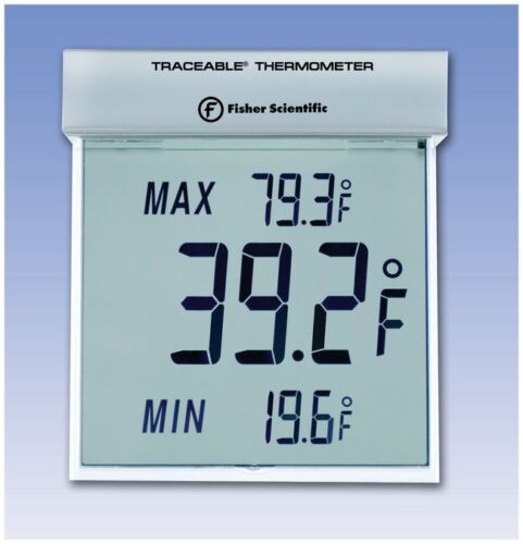Fisher Scientific - Traceable Big-Digit See Through Room Thermometer