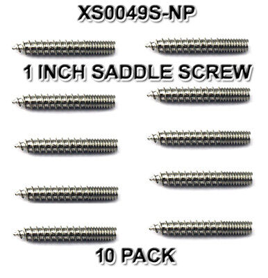 "WOOD 1"" SCREWS SADDLE XS0049S-NP ADAPTER SCREWS FOR CONCHO LOT (10/pack) NEW"