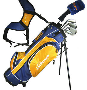 NEW-X9-LINKSMAN-GOLF-JUNIOR-KIDS-CLUB-SET-W-RH-HYBRID-CHILDRENS-BAG-JR-AGES-5-9