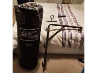 Protec Punchbag with Ceiling Hook and Wall Bracket