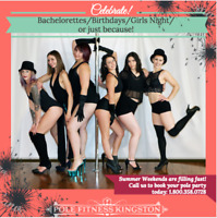 BEST Bachelorette Parties Happen at Pole Fitness Kingston!