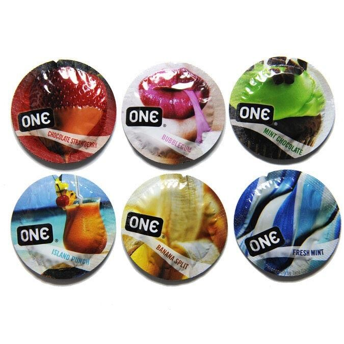 100 condoms pack One flavors waves 100 preservativos condones