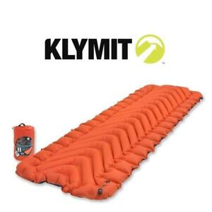 NEW KLYMIT INSULATED SLEEPING PAD 06IVOr01C 222918174 ORANGE/BLACK STATIC V INFLATED SIZE: 72 x 23 x 2.5 Inches
