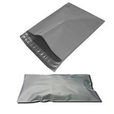 100 BAGS - 17 x 22 STRONG POLY MAILING POSTAGE POSTAL QUALITY SELF SEAL GREY