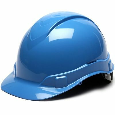 Ridgeline Light Blue Hard Hat 4 Point Ratchet Suspension
