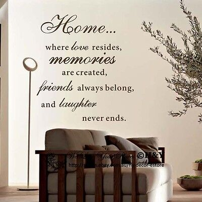 Home Decoration - Home Wall Quotes Stickers Vinyl Wall Decal Removable Art Mural Home Decor Deco