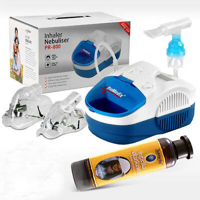 Inhalator Inhaliergerät Aerosol Therapie Inhalation Kompressor mit Solenebel TOP