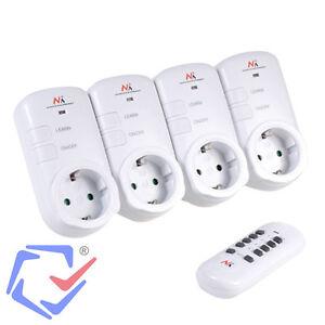 Kit de 4 tomas con receptor mando a distancia enchufes - Enchufes mando a distancia ...
