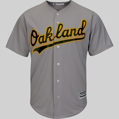 Oakland Athletics A's Cool Base Jersey Road Gray Plus Sizes Majestic MLB