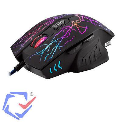 Optische Gaming Maus Mouse Notebook USB PC 2400 DPI USB 6 Tasten Beleuchtung