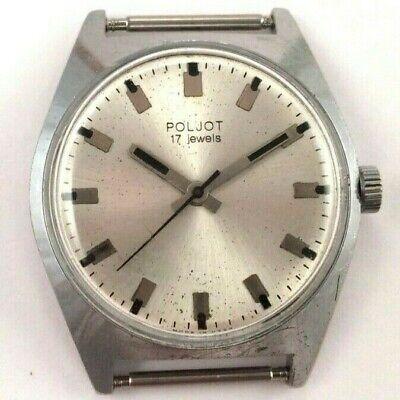 Vintage Soviet Poljot windup watch Nice Dial,USSR Serviced *US SELLER* #1546